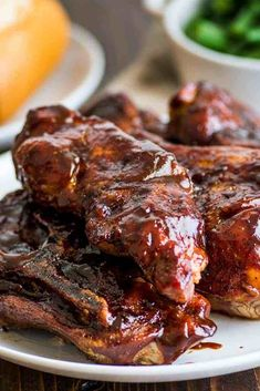 Country-style pork ribs in the oven are the perfect easy dinner. Cheap, easy to make, and SO good, this might be your new favorite way to eat pork. | cheap meals | BBQ | #summer | #summerrecipes | Oven Pork Ribs, Baked Pork Ribs, Ribs Recipe Oven, Pork Loin Ribs, Boneless Pork Ribs, Pork Spare Ribs, Beef Ribs, Pork Ham, Baked Country Style Ribs