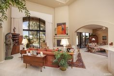 Gainey Ranch home for sale in Scottsdale, Arizona. Relax in this family room.