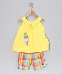 Take a look at this Austin & Ashley Yellow Top & Shorts - Infant, Toddler & Girls by Playtime Pieces: Girls' Sets on #zulily today!