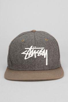 Stussy Two-Tone Wool Snapback Hat  snapbacks  snapbax Stylish Men 8c1c91b4b482