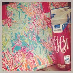 Lets Cha Cha-Cooler tote perfect for the beach and a Monogrammed Camelbak