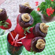 Strawberry & Mini Sunbutter Cupcake Kabobs