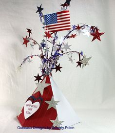 Guneaux Designs by Beverly Polen: Stampin' Up! Petal Cone - Happy July 4th!