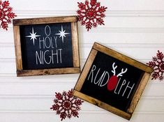 Rae Dunn Inspired Christmas Sign- HO HO HO Sign - Elf Surveillance - Feliz Navidad - O Holy Night - Rudolph - Mistletoe Kisses - Santa Christmas Crafts To Sell Bazaars, Christmas Wood Crafts, Christmas Signs Wood, Holiday Signs, Holiday Crafts, Christmas Decorations, All Things Christmas, Santa Christmas, Townhouse