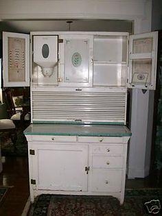 Vintage Hoosier Kitchen Hutch   brand hoosier cabinet all original sellers brand hoosier style kitchen ...