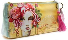 Papaya Art Love Who You Are Rose Graphic Arts Design Oil Cloth Make-Up or Accessory Travel Bag by Papaya Art. $18.99. Beautiful print on oil cloth zippered pouch. Vegan-friendly. 10 in x 5 in x 2 in base. Interior is lined pink patterned micro-fiber. Wipes clean. Small accessory bags help you organize your life on the go! Perfect for make-up, art supplies, tech gadgets, medicine bottles, and life's daily ephemera. Lined with pink pattern design microfiber lining and zip clos...