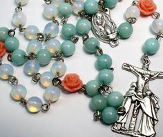 Hey, I found this really awesome Etsy listing at https://www.etsy.com/listing/221674388/traditional-rosary-necklace-opalite