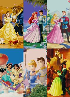 Princesses with their Princes