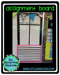 Clutter-Free Classroom: MANAGING STUDENT ASSIGNMENTS & PRODUCTS {Teacher Tip #5}