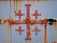 A Jerusalem Cross [link] on a gate at the Church of the Primacy of St Peter near Tiberias, Sea of Galilee, Israel. Jerusalem Cross, Sea Of Galilee, Israel Palestine, Promised Land, Crusaders, Holy Land, Crosses, Gate, Tattoo Ideas