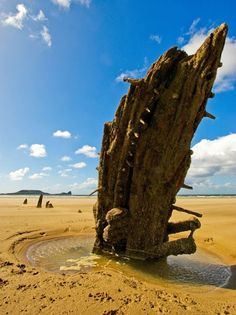 Rhossili beach, Wales #gbravel http://www.europealacarte.co.uk/blog/2013/04/18/gbtravel-hashtag-great-britain-travel-tweets/