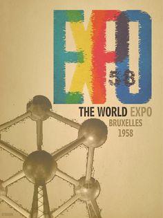 Retrostyle poster EXPO 58 by ~Leikoo on deviantART