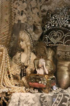 Sheelin Antique Lace Shop Porcelain Ladies