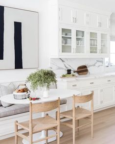 Banquette Seating In Kitchen, Dining Nook, Dining Room Sets, Dining Room Design, Interior Design Kitchen, Dining Tables, Nook Table, Table Bench, Kitchen Tables