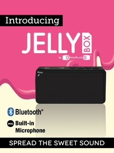 Jellybox - Spread the sweet sound with the Jellybox Bluetooth speaker. Our ultra-portable Bluetooth speaker is designed with maximum sound that fits in your pocket. This speaker is packed with features such as: a built-in microphone for calls, one touch call answering, and a TF card slot to store your music in. You'll never need peanut butter again 'cause this Jelly's all you'll need for delicious tunes.