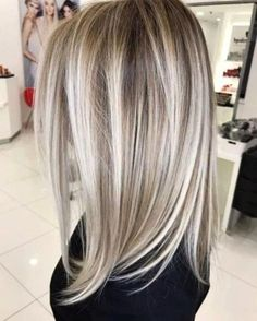 balayage hair color, light brown hair color ideas, hair colours 2019 hair color trends, best hair color for fall hair colors best ha. Gray Hair Highlights, Hair Color Balayage, Blonde Color, Highlighted Blonde Hair, Platinum Blonde Highlights, Ash Blonde Balayage, Balayage Highlights, Blonde Ombre, Blonde Brunette