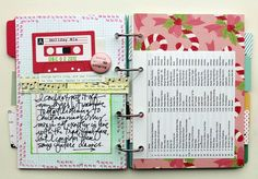 OA Dec Album playlist spread- love this idea!  It's a screen print from your iTunes Christmas playlist!