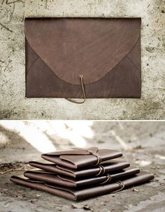 Leatherman Matt Shallenberger's Field Theories brand has created handmade, minimalist, one-piece leather folios that come in a variety of sizes.