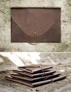 Field Theories Leather Portfolio Cases