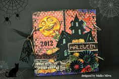"""I made a minibook for Japanese Scrapbook shop """"DIY mind"""" as the guest designer using """"Happy Haunting""""."""