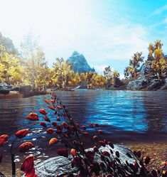 Remarkable Animated Nature Lake Scenery Gifs - Best Animations