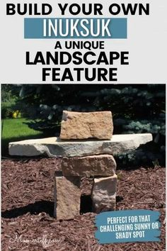Planning some landscaping updates? An Inuksuk is a wonderful unique landscape feature. Perfect for that challenging spot in your garden or yard. Easy Garden, Summer Garden, Garden Art, Outdoor Crafts, Outdoor Decor, Garden Projects, Diy Projects, Garden Ideas, Patio Makeover