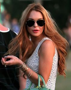 Lindsay Lohan with Strawberry Blonde Hair Color