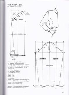 from La tecnica dei modelli uomo donna 1 sleeve Pattern Draping, Bodice Pattern, Collar Pattern, Sleeve Pattern, Mens Sewing Patterns, Coat Patterns, Clothing Patterns, Mens Shirt Pattern, Jacket Pattern