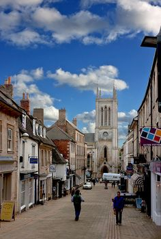 Street of Stamford, Lincolnshire, England_ UK