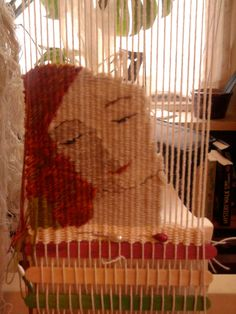 Small tapestry in progress by Chrissie Freeth
