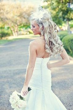 wedding hair. Im stumped... its either half up and half down or all up!