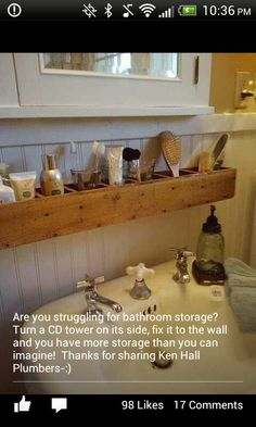 Searching for more storage in your bathroom? Here's a great DIY project