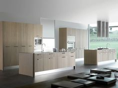 KITCHEN WITH ISLAND WITH HANDLES ORGÁNICA ORGÁNICA COLLECTION BY MOBALCO