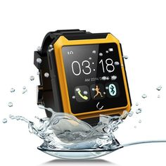 Aberobay Deluxe Edition U TERRA Watch Travel Tricks Waterproof Shockproof Dustproof Bluetooth Smart Watch Smartwatch Touch Screen for Samsung Galaxy Note Sony Xperia HTC ONE LG Android Smartphones Iphone 6 Iphone 6 Plus Iphone IOS Cellphone-Yellow Apple Iphone 6, Iphone 5s, Ios Apple, Watch For Iphone, Smart Watch Apple, Camera Watch, Best Smart Watches, Remote Camera, Waterproof Phone