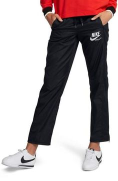 online shopping for Nike Sportswear Women's Stretch Faille Pants from top store. See new offer for Nike Sportswear Women's Stretch Faille Pants Nike Sportswear, Designer Sportswear, Athletic Pants, Straight Leg Pants, Black Pants, Active Wear, Clothes For Women, Work Clothes, How To Wear