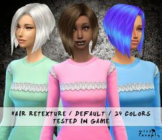 sims+4+custom+hair | Sims 4 24 Default Hair Retextures Download
