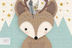 Set of 3 Print Set Woodlands Nursery Forest Animal Set Woodland Nursery Prints, Forest Nursery, Mint Nursery, Nursery Neutral, Forest Animals, Woodland Animals, Scrapbooking Image, Animal Set, Neutral Art