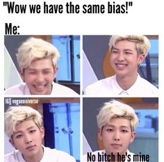 OMG my bestie and I had the same bias, but I actually introduced him to her and I was like wtf really!?