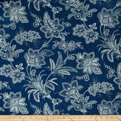 Waverly Follow the Trail Denim Denim from @fabricdotcom  This very heavy weight (13.5 oz.) laundered denim is perfect for window treatments, duvets, slipcovers and upholstering. This versatile fabric can also be used for apparel such as jumpers, jackets, skirts, pants and even children's clothing.
