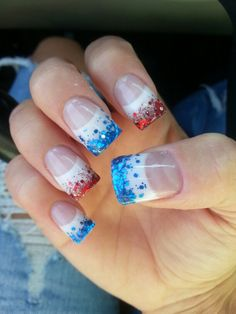 4th of july nails - different but cute