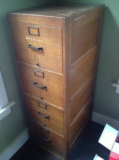 vintage filing cabinet would really like to find one of these for