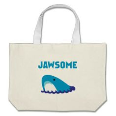 Jawsome Canvas Bags