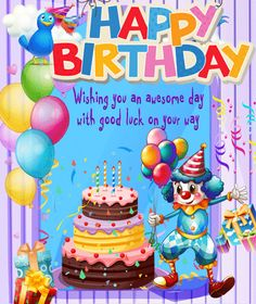 Happy Birthday Wishes Images Funny Cards Ecards Cake Pops Birthdays