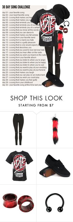 """day 25: good girls bad guys by falling in reverse"" by bands-are-my-savior ❤ liked on Polyvore featuring Topshop, Vans, AllSaints, women's clothing, women, female, woman, misses and juniors"