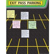 "Exit Pass Parking Poster- love this, lots of ways to use it. Have kids write thoughts or answer a question and ""park it"" on their way out the door"