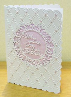 'With Love On Your Birthday' - Verse Die from the Tattered Lace range. Available exclusively from hobbycraft.