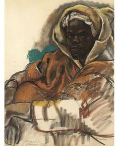 Portrait of a young man, Marrakech - Zinaida Serebriakova 1932