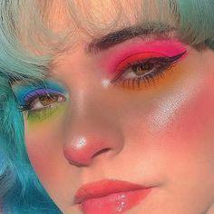 Hair and beauty – makeup green Makeup Eye Looks, Creative Makeup Looks, Beauty Makeup, Hair Makeup, Makeup Blush, Kawaii Makeup, Cute Makeup, Pretty Makeup, Edgy Makeup