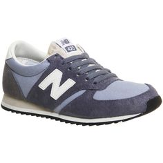 New Balance U420 (£65) ❤ liked on Polyvore featuring shoes, athletic shoes, pastel blue grey vi, trainers, unisex sports, sports footwear, new balance athletic shoes, pastel shoes, gray shoes and grey shoes