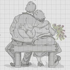Вышивка. Бабушка рядышком с дедушкой. Обсуждение на LiveInternet - Российский Сервис Онлайн-Дневников